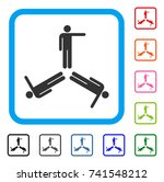 pointing men icon. flat gray... | Shutterstock .eps vector #741548212