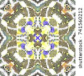mosaic colorful pattern for... | Shutterstock . vector #741560212