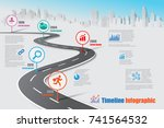 business road map timeline... | Shutterstock .eps vector #741564532