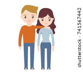happy couple icon | Shutterstock .eps vector #741567442