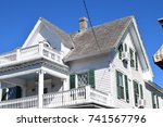 gable roof on historic house. ... | Shutterstock . vector #741567796