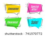 flat linear promotion sticker ... | Shutterstock .eps vector #741570772