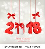 new year holiday background... | Shutterstock .eps vector #741574906