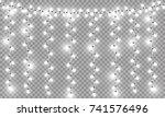 glowing christmas lights...   Shutterstock .eps vector #741576496