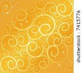 swirl star gold | Shutterstock .eps vector #7415776