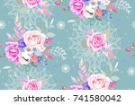seamless pattern with pretty