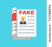 fake news flat icon vector | Shutterstock .eps vector #741588856