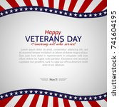 veterans day in the usa on... | Shutterstock .eps vector #741604195
