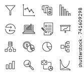 modern outline style analysis... | Shutterstock .eps vector #741609298