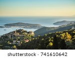 areal view of the village of... | Shutterstock . vector #741610642