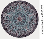 ornamental round lace | Shutterstock .eps vector #74161696