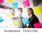 start up business people group... | Shutterstock . vector #741617182