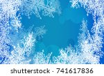 2018 new year on ice frosted...   Shutterstock .eps vector #741617836