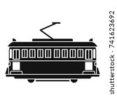 tram icon. simple illustration... | Shutterstock .eps vector #741623692
