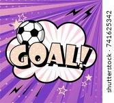 comic speech bubble with... | Shutterstock .eps vector #741625342
