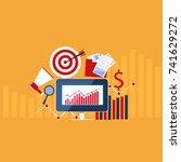stock market.financial market...   Shutterstock .eps vector #741629272