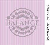 balance retro style pink emblem | Shutterstock .eps vector #741635422