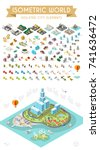 set of isometric high quality... | Shutterstock .eps vector #741636472