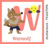cute children abc alphabet w... | Shutterstock .eps vector #741637096