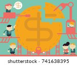 working on the profits | Shutterstock .eps vector #741638395