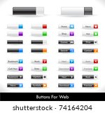 set of buttons for web. vector. | Shutterstock .eps vector #74164204