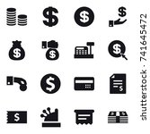 16 vector icon set   coin stack ... | Shutterstock .eps vector #741645472