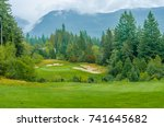 sand bunkers at the golf course. | Shutterstock . vector #741645682
