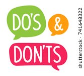 do's and don'ts. vector hand... | Shutterstock .eps vector #741648322