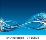 winter abstract background | Shutterstock .eps vector #7416535