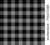 seamless light grey buffalo... | Shutterstock . vector #741672385