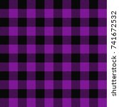 Seamless Purple Buffalo Plaid