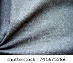 texture of fabric. gray woolen... | Shutterstock . vector #741675286