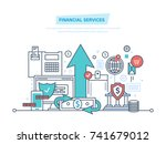 financial services. bank ... | Shutterstock .eps vector #741679012