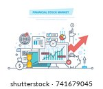 financial stock market. capital ... | Shutterstock .eps vector #741679045