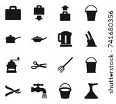16 vector icon set   suitcase... | Shutterstock .eps vector #741680356