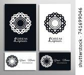 black and white mandala sign...   Shutterstock .eps vector #741699046