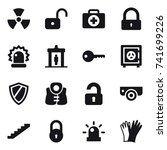 16 vector icon set   nuclear ... | Shutterstock .eps vector #741699226