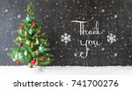 colorful christmas tree  snow ... | Shutterstock . vector #741700276