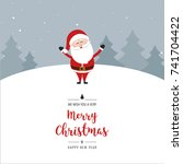 santa claus merry christmas... | Shutterstock .eps vector #741704422