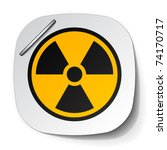 vector radiation symbol label   Shutterstock .eps vector #74170717