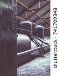 old steam engine locomotive in... | Shutterstock . vector #741709348