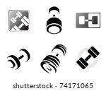 sign weights for fitness or gym ...   Shutterstock .eps vector #74171065