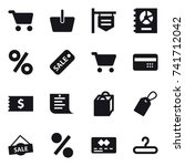 16 vector icon set   cart ... | Shutterstock .eps vector #741712042