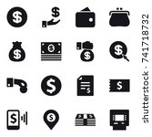 16 vector icon set   dollar ... | Shutterstock .eps vector #741718732