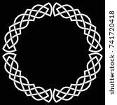 celtic round frame  wreath or...   Shutterstock .eps vector #741720418
