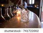 statement glassware and large... | Shutterstock . vector #741722002