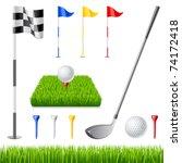 golf icon set. golf club  golf... | Shutterstock .eps vector #74172418