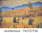 autumn scenery landscape with...   Shutterstock . vector #741727756