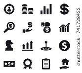 16 vector icon set   target... | Shutterstock .eps vector #741728422