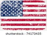 vector grunge styled flag of usa | Shutterstock .eps vector #74173435